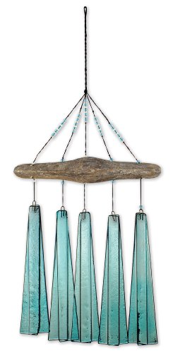 Sunset Vista Design Studios Sea Breeze Glass Wind Chime, Turquoise