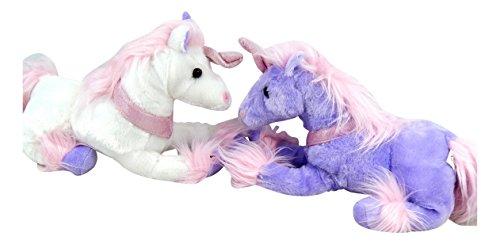 MT Unicornio XXL 2 Piezas Felpa Violeta y Blanco