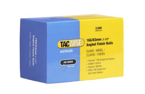 Tacwise 0773 Nägel Gewinkelt (63mm,2.500 Stück pro Verpackung) 16G