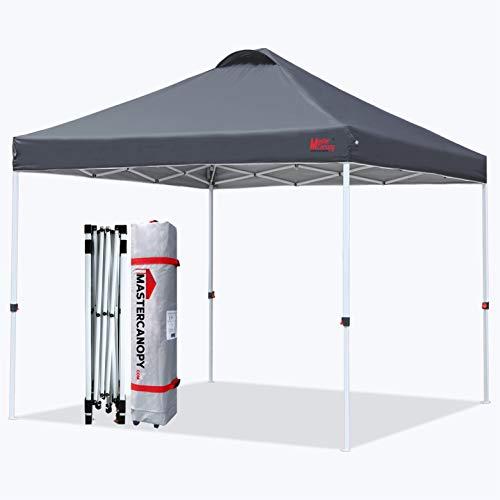 MasterCanopy Durable Ez Pop-up Gazebo Tent with Roller Bag(3x3M,Dark Grey)