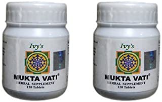 Mukta Vati 120 Herbal Tablet, 2pack of 120tab Each.