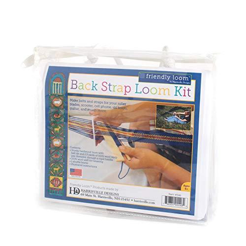 Harrisville Designs F546-AZ Gurtband-Set mit 2 Metern Wollkette zum Basteln für Kinder und Erwachsene, Mehrfarbig