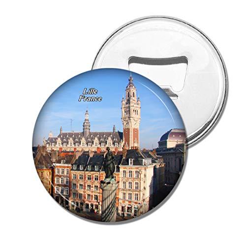 Weekino Frankreich Altstadt Lille Bier Flaschenöffner Kühlschrank Magnet Metall Souvenir Reise Gift