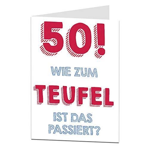 LimaLima 50. Geburtstagskarte für Männer & Frauen Mama Papa Oma Opa Unhöfliche Offensive Lustige Geburtstagskarte