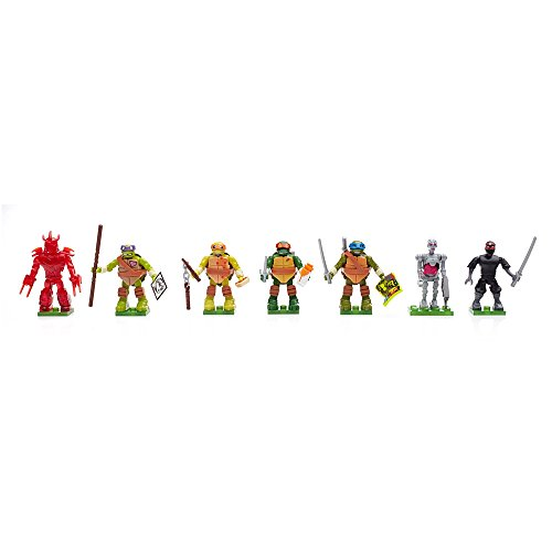 Mattel Mega Bloks DMX21 - Teenage Mutant Ninja Turtles Mikro-Aktions-Figuren Blindpack, sortiert