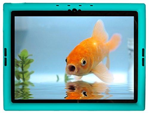 Bobj Rugged Case for Google Pixel C 10-inch Tablet - BobjGear Custom Fit - Patented Venting - Sound Amplification - BobjBounces Kid Friendly (Terrific Turquoise)