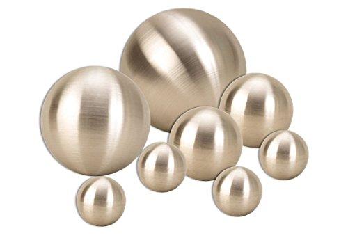 Geschenkestadl 8 er Set Dekokugel in Silber matt ca. Ø 15cm, Ø 10cm, Ø 6cm und Ø cm Edelstahl Kugel Schwimmkugel Rosenkugel Weihnachten