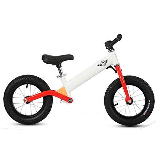 Laufräder Aluminium Mini Early Rider Push Bike, 2 3 4 5 6 Jahre alt, 12 Zoll Luftreifen, Weiß Rot