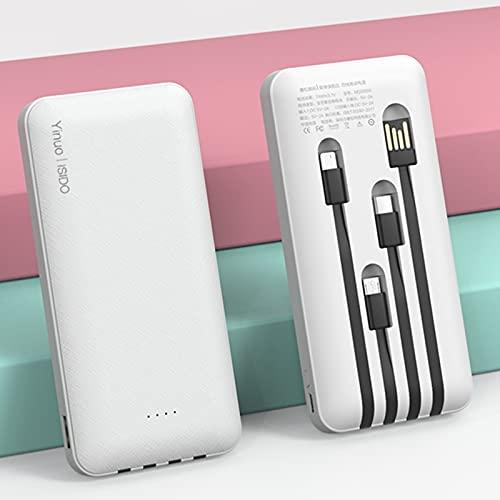 AP.DISHU Batería Externa 20000mAh Power Bank Power 10 W PD Quick Charge Cargador Externo con 2 Entradas y 4 Salidas Compatible con iPhone,MacBook,iPad,Samsung,Blanco