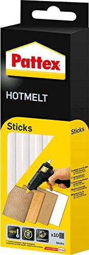 Pattex Hotmelt Sticks, Klebesticks für die Heißklebepistole mit extrem hoher Transparenz, Heißkleber Sticks zum Basteln, Dekorieren und Reparieren, 1x10 Sticks, Transparent, 200 g, PTK6