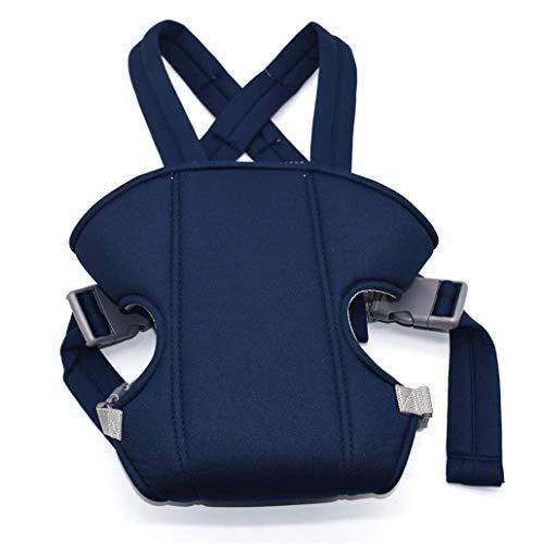 Babytrage, Ergonomische Breathable Babyschale 3-in-1-Front und Rückseite Einstellbare Baby-Riemen-Fördermaschine für Neugeborene Babys & Kleinkinder (Marine-Blau)