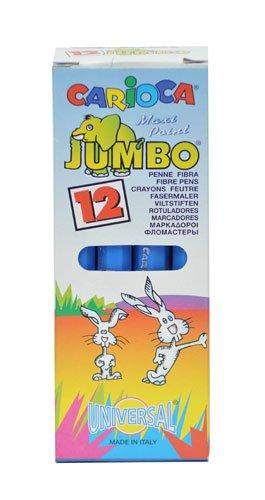 Caja de 12 rotuladores monocolor Jumbo, con punta gruesa, color azul