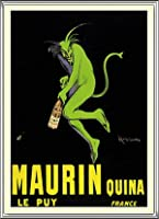 ポスター レオネット カピエッロ Maurin Quina le Puy 額装品 アルミ製ハイグレードフレーム(シルバー)