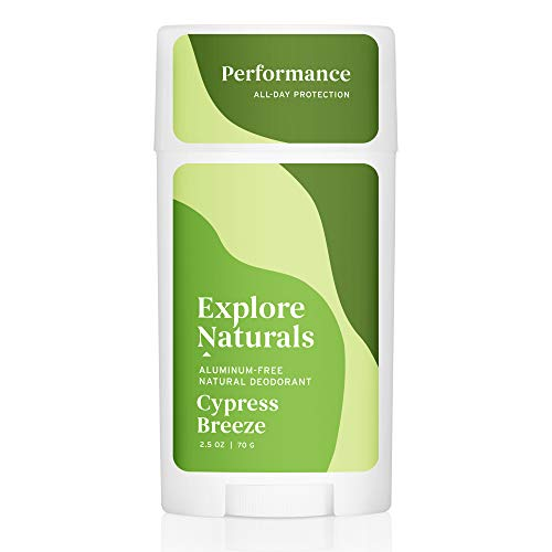 Explore Naturals Deodorant - Cypress Breeze - Natural Deodorant for Women and Men - Cruelty free, Aluminum Free, Free of Parabens and Sulfates