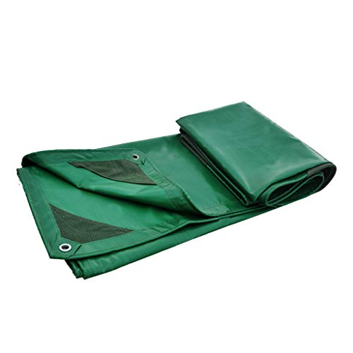 Qjifangfsh Tarpaulin multifunctionele PVC-verdikking multifunctionele zonwering buitenshuis, groen 3m*4m