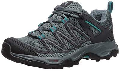 Salomon Women's Pathfinder Hiking Shoes, Stormy Weather/Phantom/Tropical Green, 8 B US