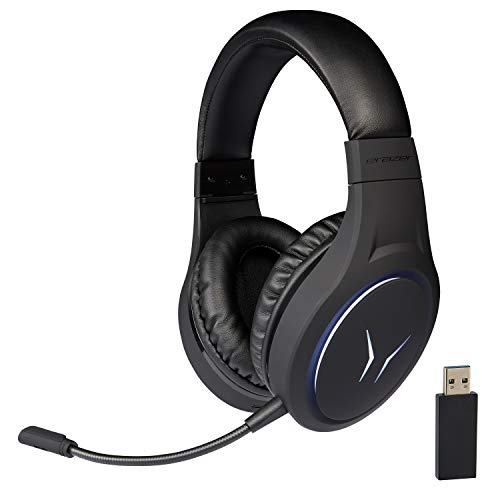 MEDION ERAZER Mage X10 Gaming Headset Wireless (RGB-Beleuchtung, integrierter Akku, integriertes Mikrofon, Over Ear, USB, 3,5 mm)