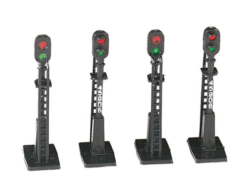 Bachmann Trains - Scenery Accessories - BLOCK SIGNALS (4 pcs) - HO Scale
