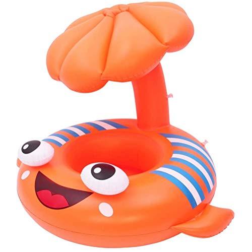 Wawogic Círculo Inflable Anillo de natación para bebés Anillo de Asiento de natación Inflable Flotante Seguro Juguete con sombrilla para niños