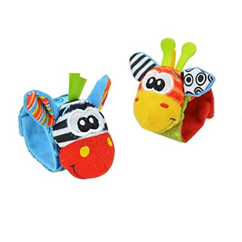 AZYVv Sonajero Bebe 2/4 Pcs Sonajeros para Bebés Sonajero Toys con Buscador De Muñeca Y Pie Juguetes De Peluches De Desarrollo Juguetes Educativos para 0-12 Meses Recién Nacido Niño Niñas