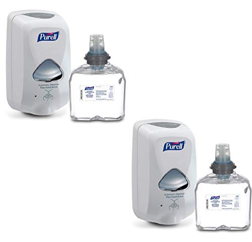 Purell PUREL Advanced Hand Sanitizer Foam TFX Starter Kit, 1-1200 mL Foam Hand Sanitizer Refill + 1 TFX Dove Grey Touch-Free Dispenser – 5392-D1-2 Pack