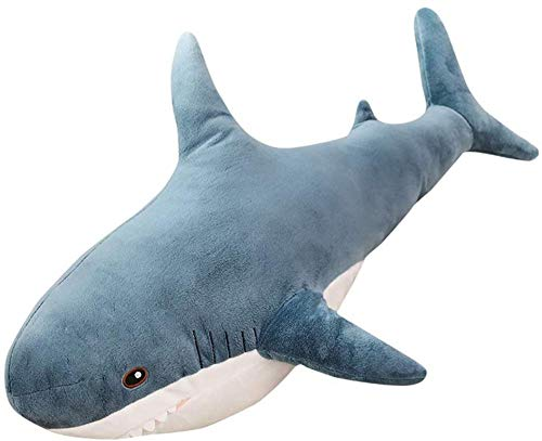 JMKHY Lovely Big Shark Soft Plush Toy Dolls Stuffed Animal Pillow Bedroom Sofa Decoration Pillow For Bed Gift For Children And Friends-80Cm