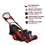 BKR® Petrol Power Rotary Lawn Mower 20 Inches 5.5hp Engine with Rear