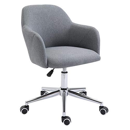 LIUDINGDING-Fauteuil, CHAISE informatique des ménages Chaise simple bureau peut soulever Nordic tissu Chaise de bureau Chaise pivotante Siège (Color : Dark gray)