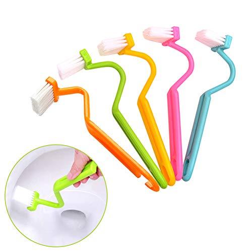curvado Aseo plástico Cepillo de limpieza WC Esquina del ajuste (3 piezas)