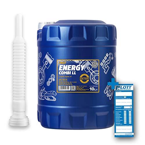 MANNOL 10L MOTORÖL Energy Combi LL 5W-30 + AUSLAUFSCHLAUCH