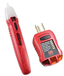 Gardner Bender GTK-2 Safety Kit, GVD-3504 Non-Contact Voltage Tester and GFI-3501 GFI Tester, 2-Piece