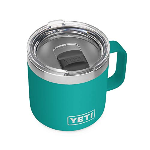 yeti insulated drink mugs YETI Rambler 14 oz Mug, Vacuum Insulated, Stainless Steel with MagSlider Lid
