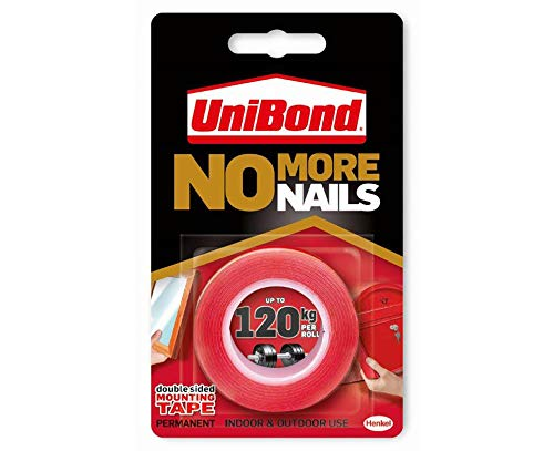 UniBond No More Nails On A Roll, Double-Sided Tape for Reliable Instant...