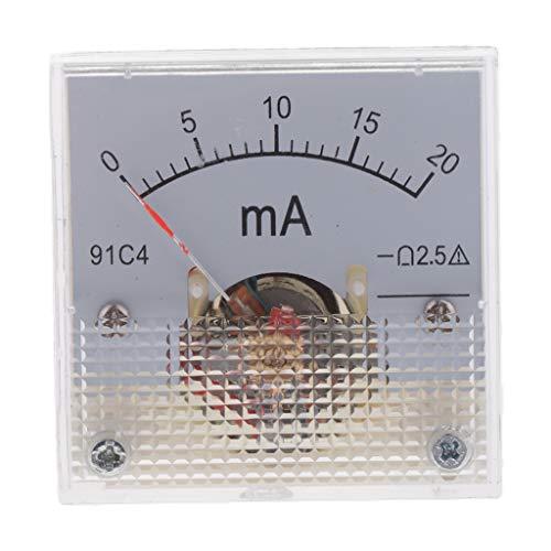 Fenteer DC Analog Amperemeter Stromanzeige - 0-20mA