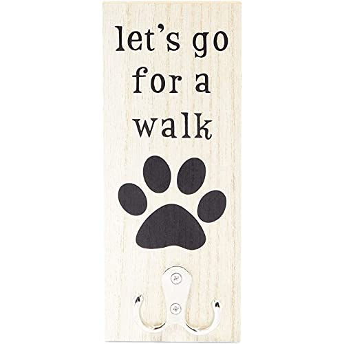 Okuna Outpost Wall Mounted Dog Leash Holder, Wooden Pet Leash Hook (3.1 x 7.9 in)