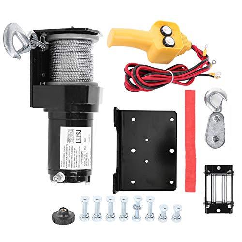 Cocoarm Cabrestante eléctrico de 2000 LB 12 V con Control Remoto Kit de cabrestante...