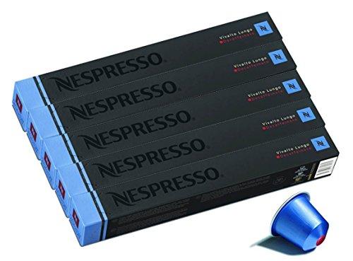 NESPRESSO ネスプレッソ カプセル コーヒー ヴィヴァルト・ルンゴ・デカフェ 1本10カプセル×5本セット [並行...