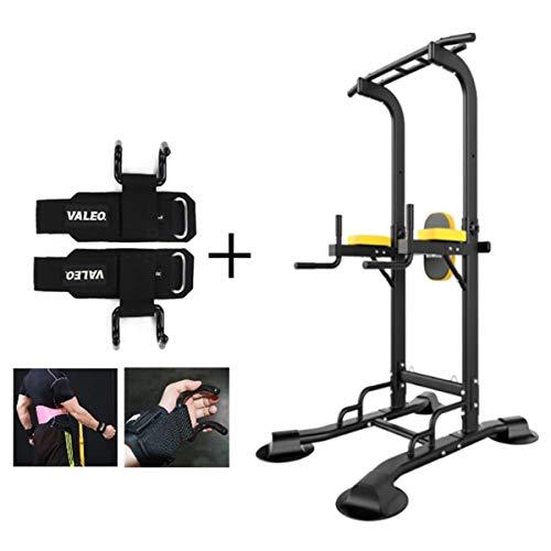 Wensa Stationäre Kraftwerk mit Pull-Up Bar Dip-Station Hilfs Zughaken Bauch Arm Muskeltraining Anti-Rutsch-Griff für Springboards, Barbell Übungen
