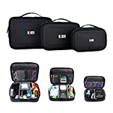BUBM 3pcs/Set Travel Cable Organizer, Portable Cord Cable Gear...