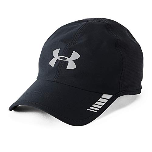 Under Armour Men's Launch ArmourVent Cap , Black (001)/Silver , One Size Fits All