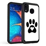 Galaxy A30 Case, Galaxy A20 Case,Rossy Heavy-Duty Hybrid Hard PC & Soft Silicone Dual Layer Shockproof Protection Case for Samsung Galaxy A20/A30,Dog Cat Heart Paw Prints