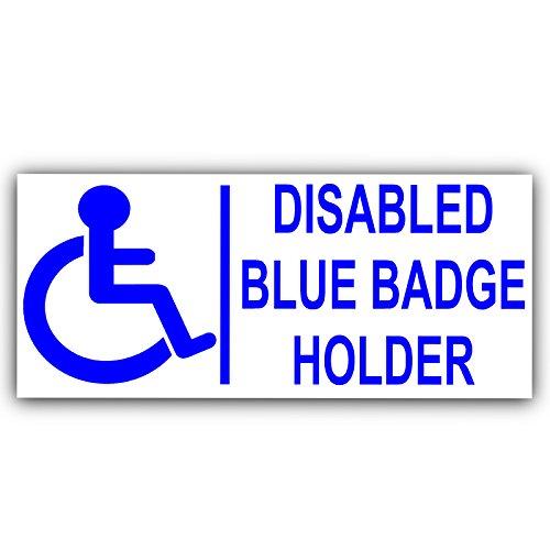 Platina plaats 1 x 200mm blauwe badge houder-EXTERNAL-gehandicapte auto Sticker -handicap rolstoel- mobiliteit zelfklevende teken