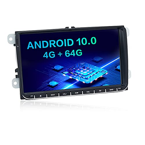 Dasaita Android 10.0 Autoradio Bluetooth per VW Polo Universale Golf EOS Tiguan Touran Passat Scirocco Autoradio 2 Din Supporto DAB + Bluetooth 5.0 WiFi DSP Radio (4G RAM + 64G ROM)