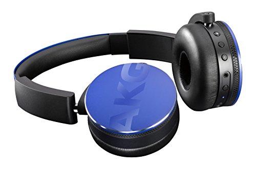 AKG Y50BT On-Ear Wireless Bluetooth Kopfhörer Wiederaufladbar Faltbar Kompatibel mit iOS und Android Smartphones und Tablets - Blau