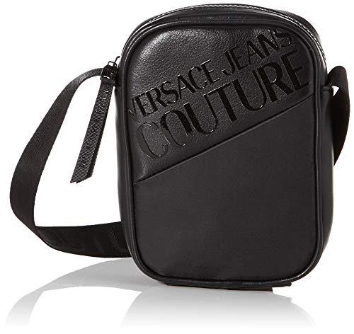 Versace Jeans Couture Herren Bag Schultertasche, Schwarz (Nero), 4x17.5x13.5 centimeters