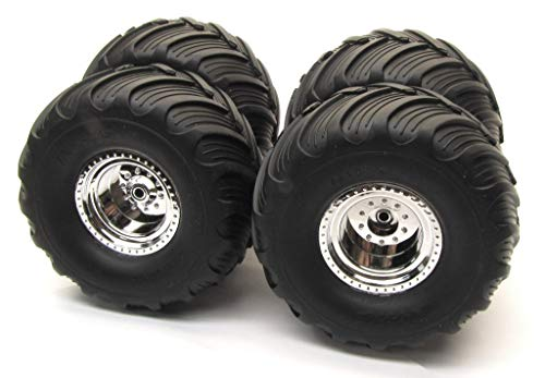 Tires and Chrome Wheels (2) Electric Rear
