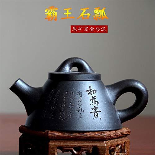 HuiLai Zhang theepot Beroemde Handgemaakte Koning ah Stone Scoop Pot Thee theepot erts Zwarte Jinsha modder Paarse modder