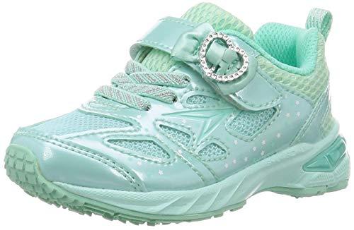 [シュンソク] スニーカー 運動靴 幅広 軽量 15~23cm 2.5E キッズ 女の子 LEC 6440 ミント 20 cm