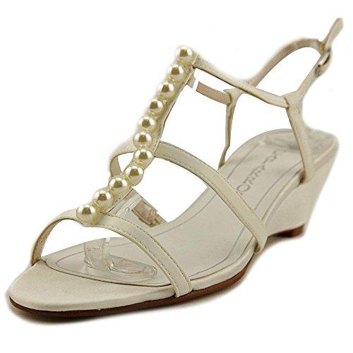 Caparros Women Shoes Sullivan Ivory Satin Sandals (9.5)