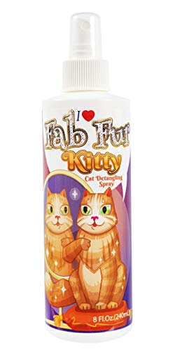 Pet MasterMind Fab Fur Kitty Detangling Conditioning Spray, Best Cat Spray for Grooming and Dematting, Premium Natural ingredients, Unscented, 8 oz Bottle